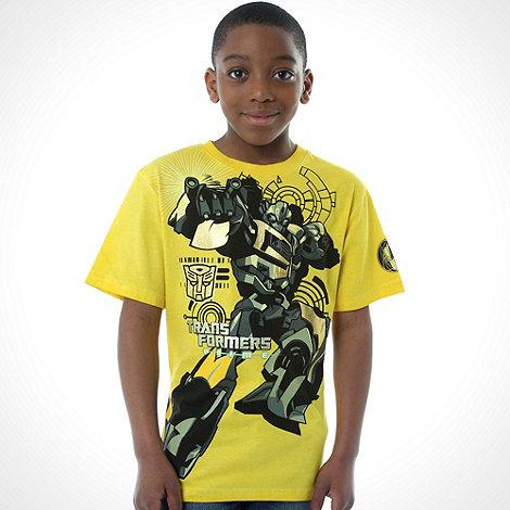 Transformers - Boy+s yellow +Transformers+ t-shirt