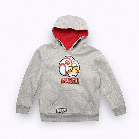 Angry Birds Star Wars - Boy+s light grey +REBEL!+ sweat hoodie