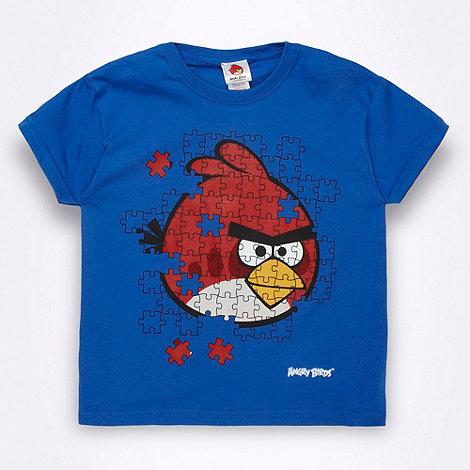 angry birds - Boy+s blue +Angry Birds+ jigsaw t-shirt