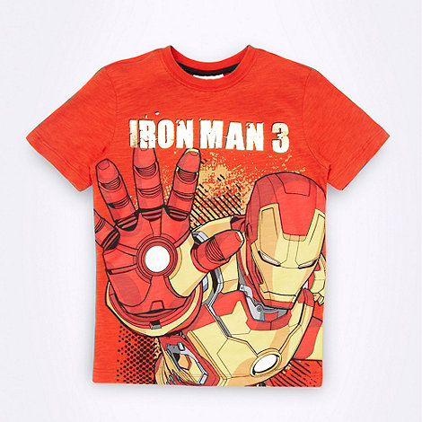 Iron Man - Boy+s orange +Iron Man 3+ t-shirt