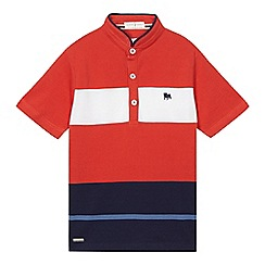J by Jasper Conran - Boys' red stripe polo shirt