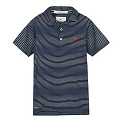 J by Jasper Conran - Boys' blue textured polo shirt