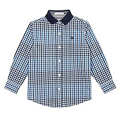 J by Jasper Conran - Boys' blue check print button down shirt