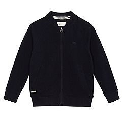 J by Jasper Conran - Boys' navy zip-through cardigan