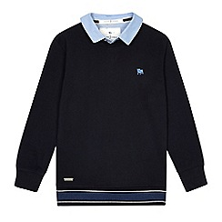 J by Jasper Conran - Boys' navy mockable sweater