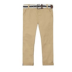 J by Jasper Conran - Boys' beige slim leg chino's with belt