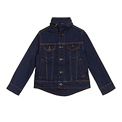 J by Jasper Conran - Boys' dark blue hooded denim jacket