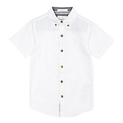 J by Jasper Conran - Boys' white short sleeve Oxford shirt