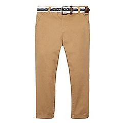 J by Jasper Conran - Boys' tan belted stretch chinos