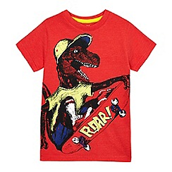 bluezoo - Boys' red dinosaur print t-shirt