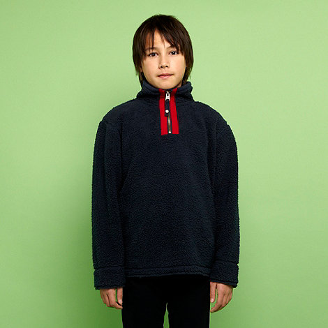 Mantaray - Boy+s navy plain fleece