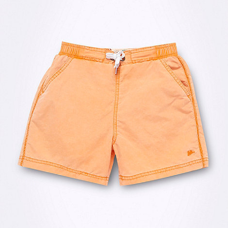 Mantaray - Boy+s orange washed swim shorts