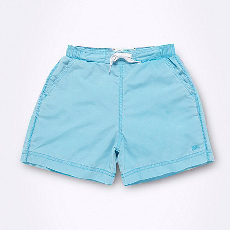 Mantaray - Boy's aqua washed swim shorts