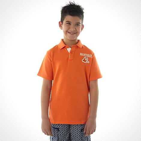 Mantaray - Boy+s orange surf polo top