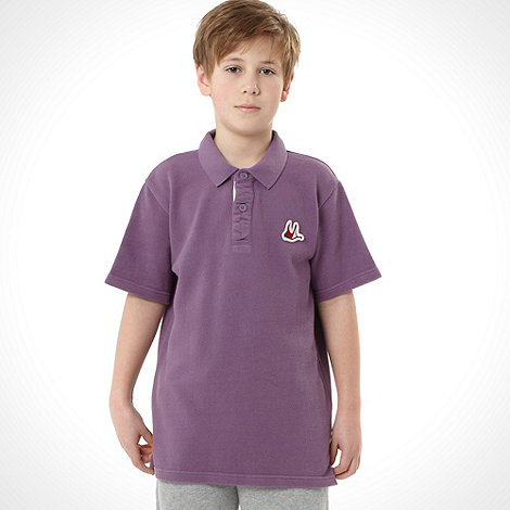 Mantaray - Boy+s purple surf polo top