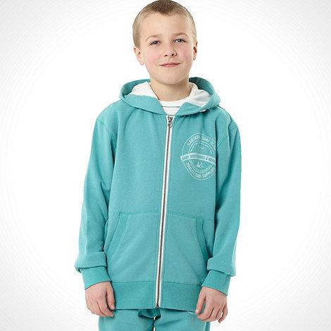 Mantaray - Boy+s turquoise zip through hoodie
