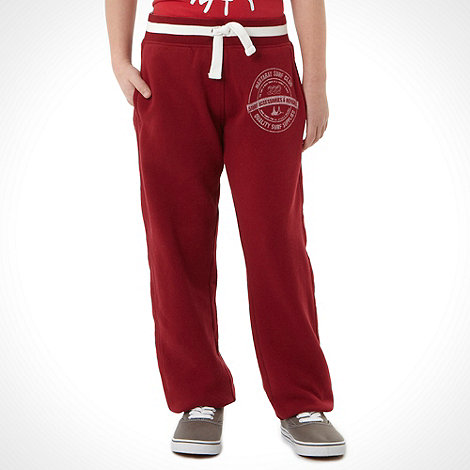 Mantaray - Boy+s red logo jogger bottoms