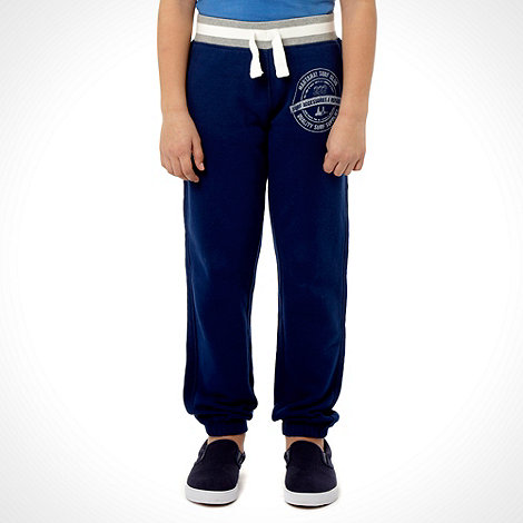 Mantaray - Boys+ navy striped ribbed waisted jogging bottoms