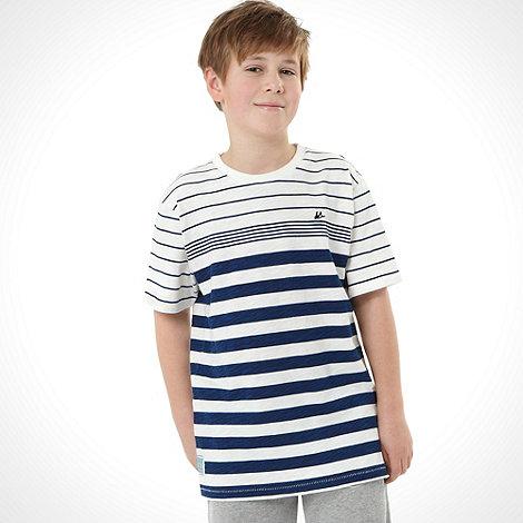 Mantaray - Boy+s navy striped top