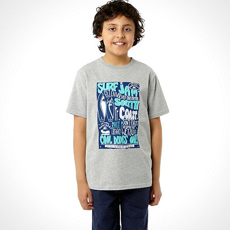 Mantaray - Boy+s grey +Surf Jam+ printed tee