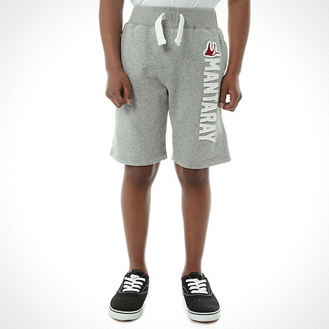 Mantaray - Boy+s grey applique logo shorts