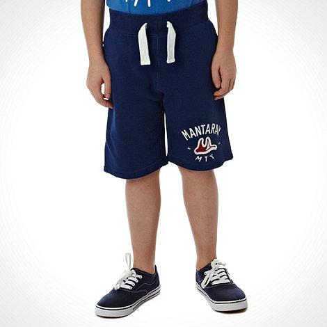 Mantaray - Boy+s navy placement logo shorts