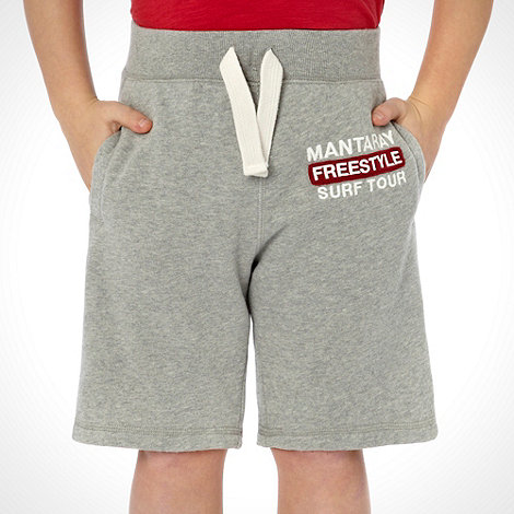 Mantaray - Boy+s grey +Freestyle+ logo shorts