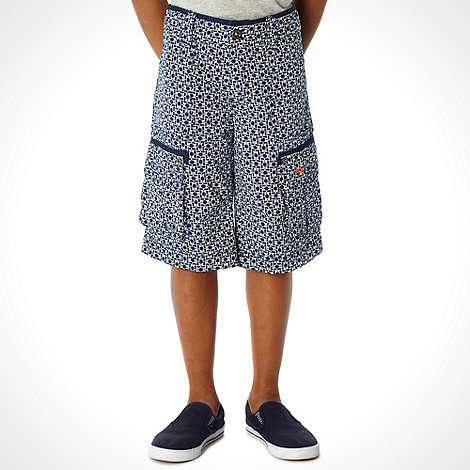 Mantaray - Boy+s navy woven cargo shorts