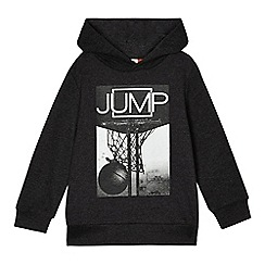 bluezoo - Boys' dark grey basketball print hoodie