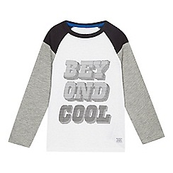 bluezoo - Boys' white 'Beyond Cool' raglan top