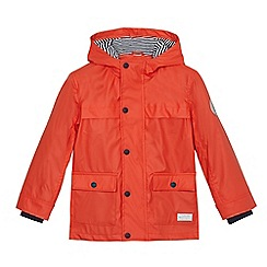 J by Jasper Conran - Boys' dark orange rubberised coat