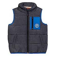 Mantaray - Boys' grey zip-through gilet