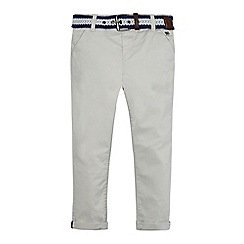 J by Jasper Conran - Boys' grey belted chino trousers