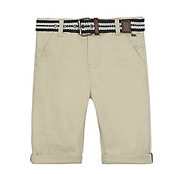 J by Jasper Conran - Boys' taupe belted chino shorts