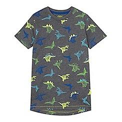 bluezoo - Boys' grey dinosaur print t-shirt