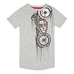 bluezoo - Boys' grey motor bike print t-shirt