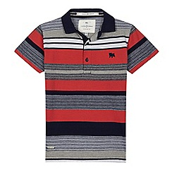 J by Jasper Conran - Boys' multi-coloured striped polo shirt