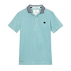 J by Jasper Conran - Boys' light green textured polo shirt