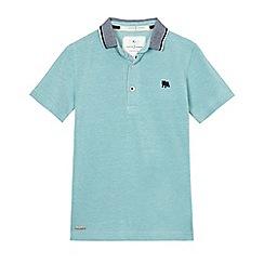 J by Jasper Conran - Boys' light green textured polo shirt