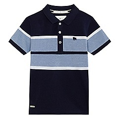 J by Jasper Conran - Boys' navy block striped polo shirt
