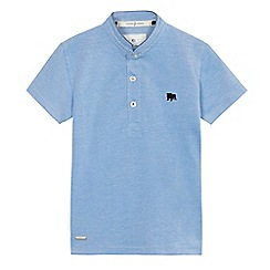 J by Jasper Conran - Boys' blue pique grandad collar top