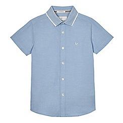 J by Jasper Conran - Boys' light blue textured collar shirt
