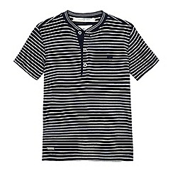 J by Jasper Conran - Boys' navy striped print top