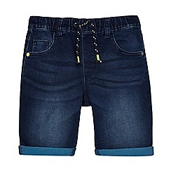 bluezoo - Boys' dark blue denim shorts
