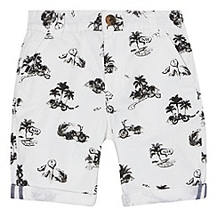 bluezoo - Boys' white beach print shorts