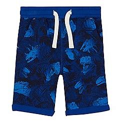 bluezoo - Boys' blue dinosaur print shorts