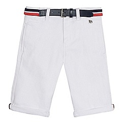 J by Jasper Conran - Boys' white denim belted shorts