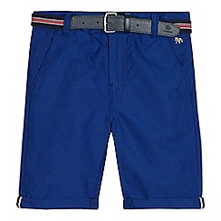 J by Jasper Conran - Boys' blue belted Oxford shorts