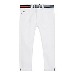 J by Jasper Conran - Boys' white slim fit belted jeans