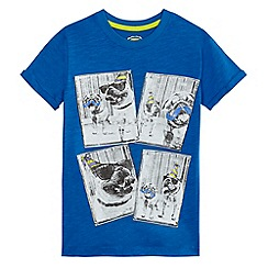 bluezoo - Boys' blue pug print t-shirt